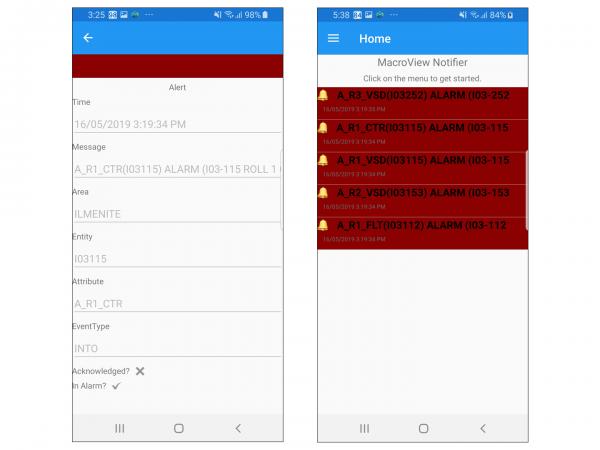 Macroview Alarm App